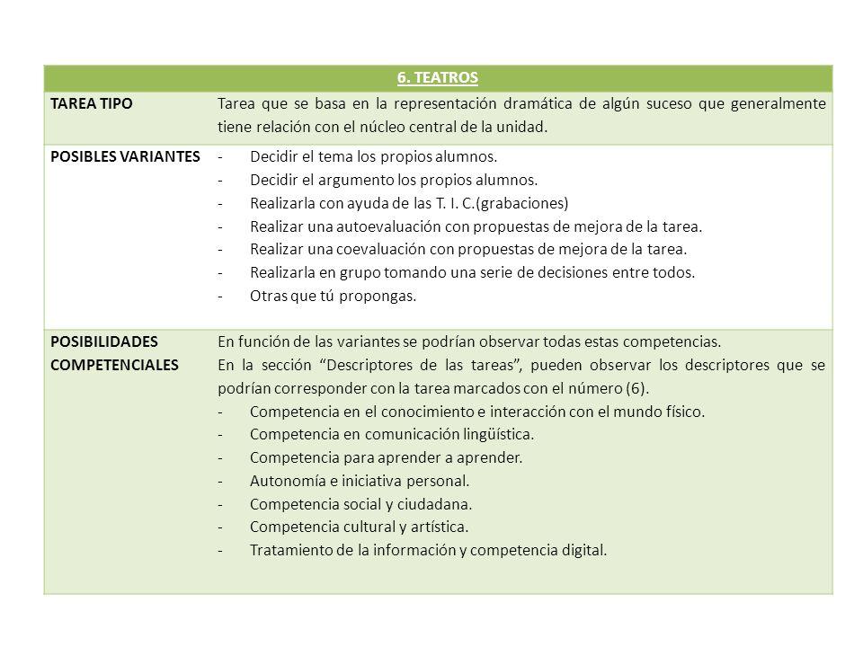 6. TEATROS TAREA TIPO.