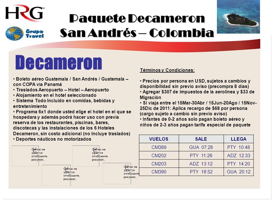 Paquete Decameron San Andrés – Colombia