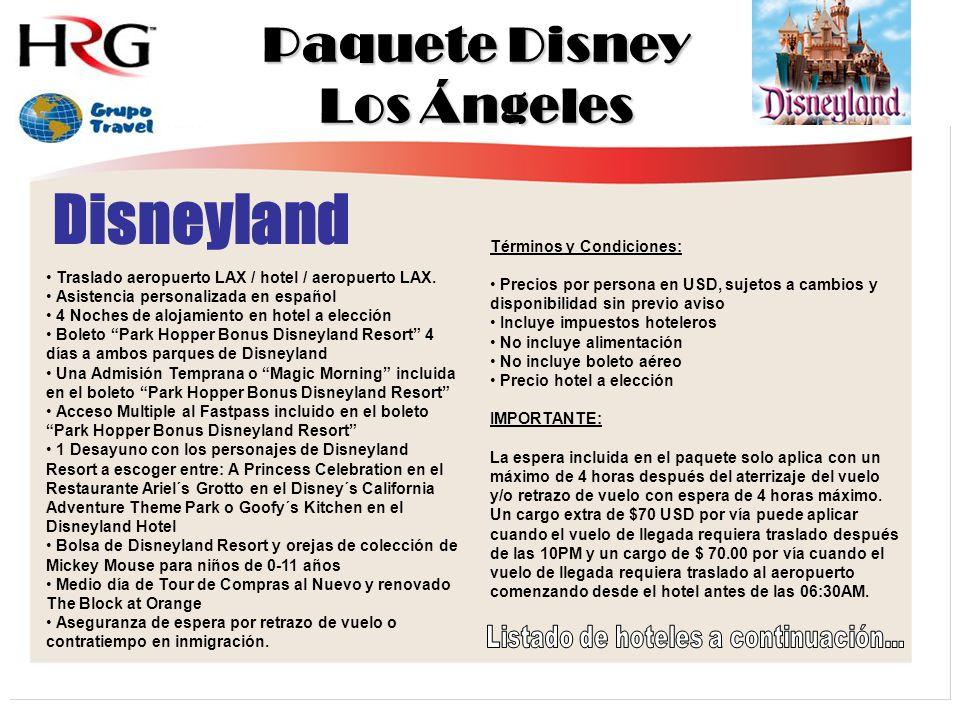 Paquete Disney Los Ángeles