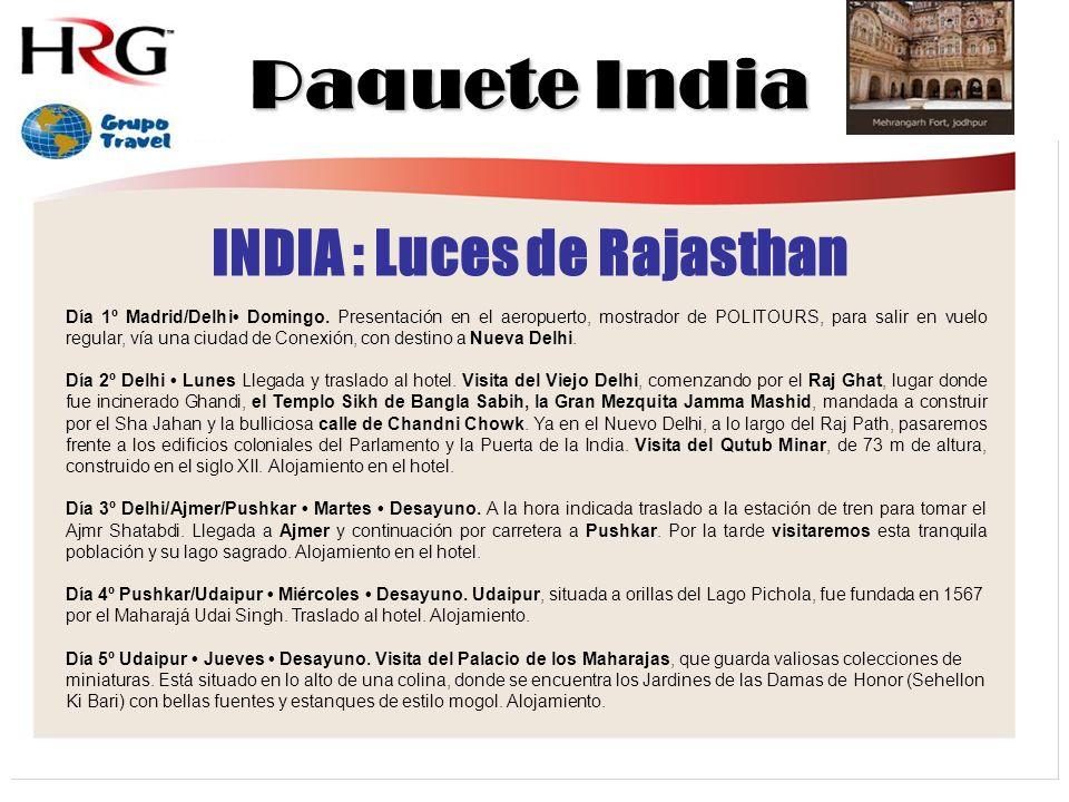 INDIA : Luces de Rajasthan
