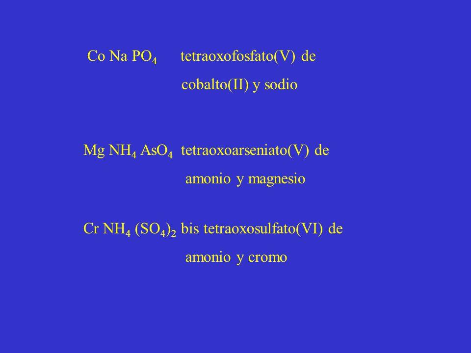 Co Na PO4 tetraoxofosfato(V) de
