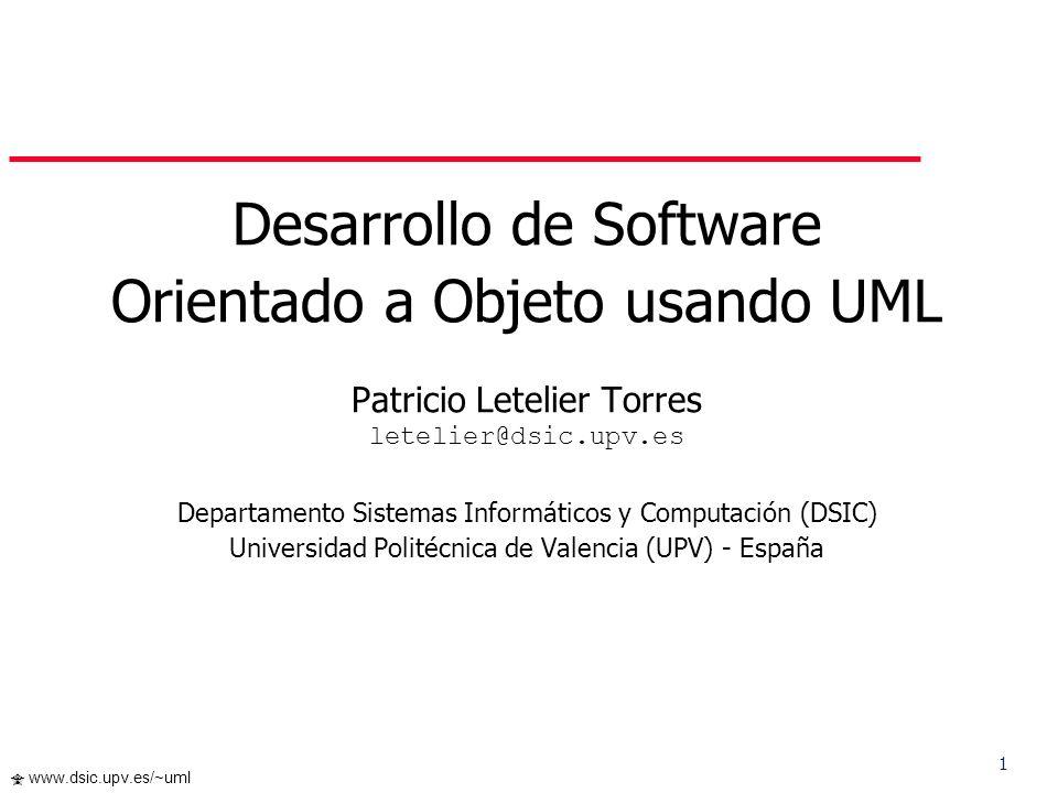 Desarrollo de Software Orientado a Objeto usando UML