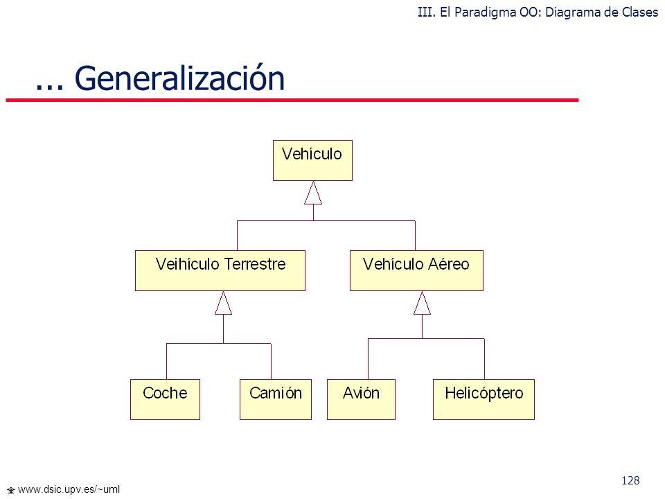 III. El Paradigma OO: Diagrama de Clases