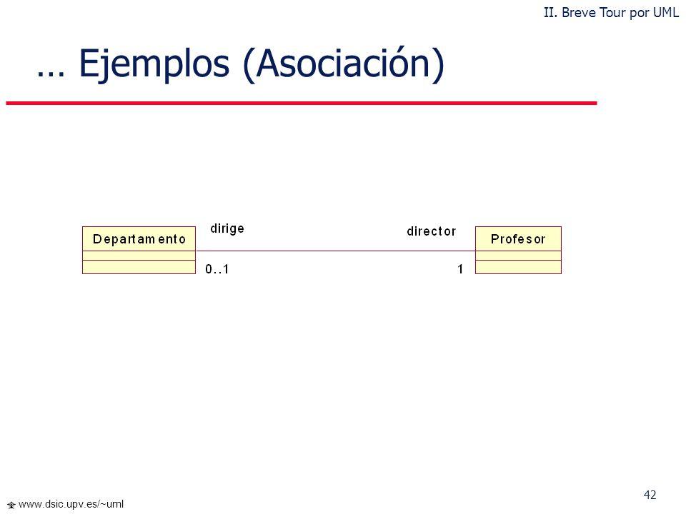 … Ejemplos (Asociación)