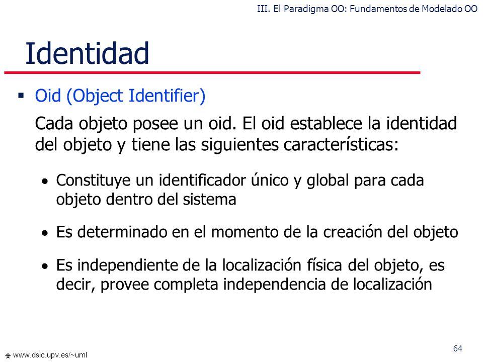 III. El Paradigma OO: Fundamentos de Modelado OO