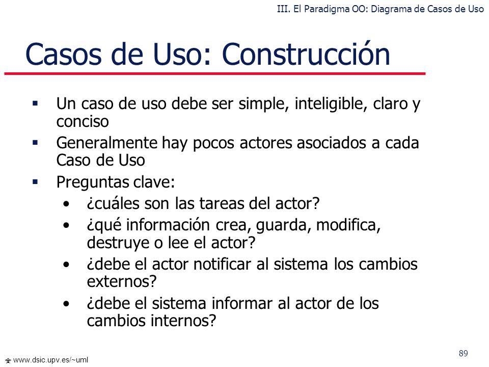 Casos de Uso: Construcción