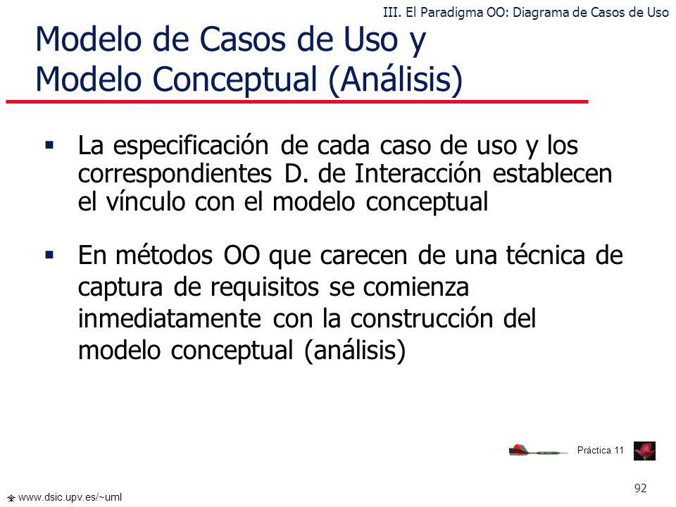 Modelo de Casos de Uso y Modelo Conceptual (Análisis)