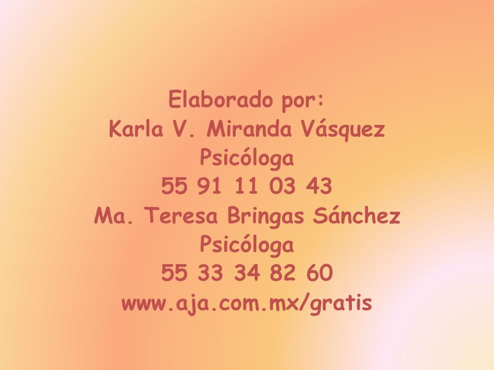 Karla V. Miranda Vásquez Ma. Teresa Bringas Sánchez