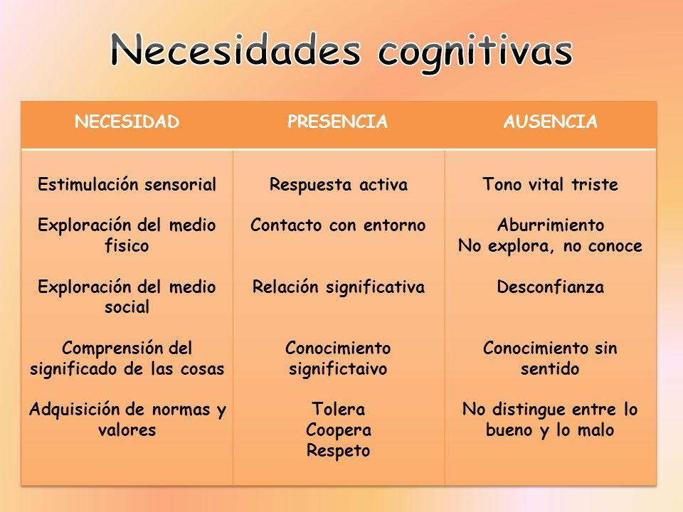 Necesidades cognitivas