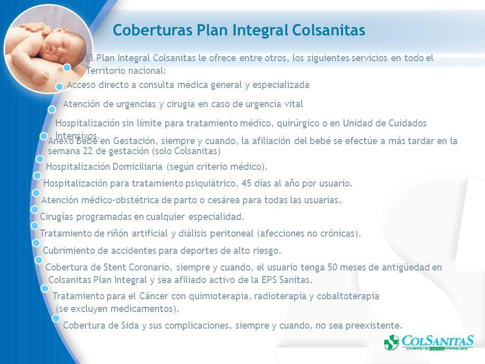 Coberturas Plan Integral Colsanitas