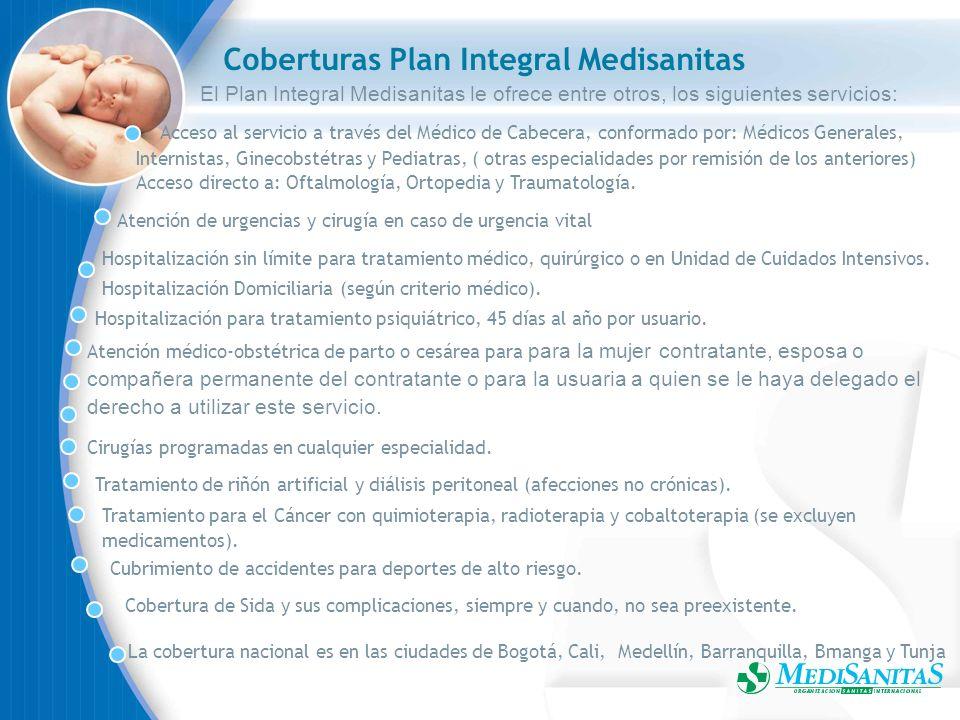 Coberturas Plan Integral Medisanitas