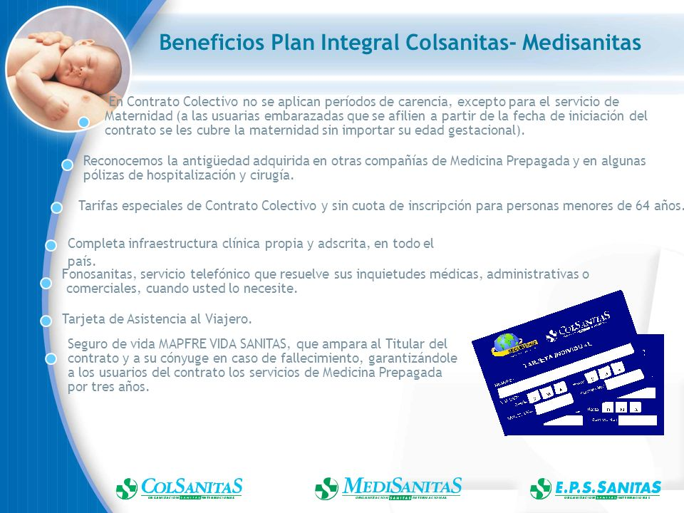 Beneficios Plan Integral Colsanitas- Medisanitas