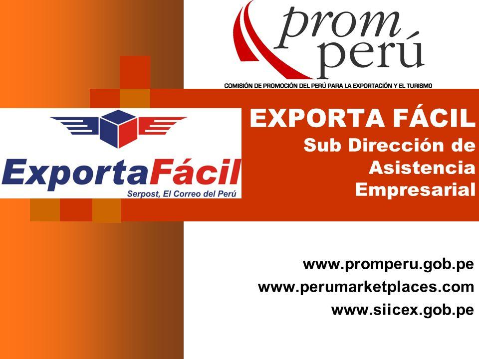 EXPORTA FÁCIL Sub Dirección de Asistencia Empresarial