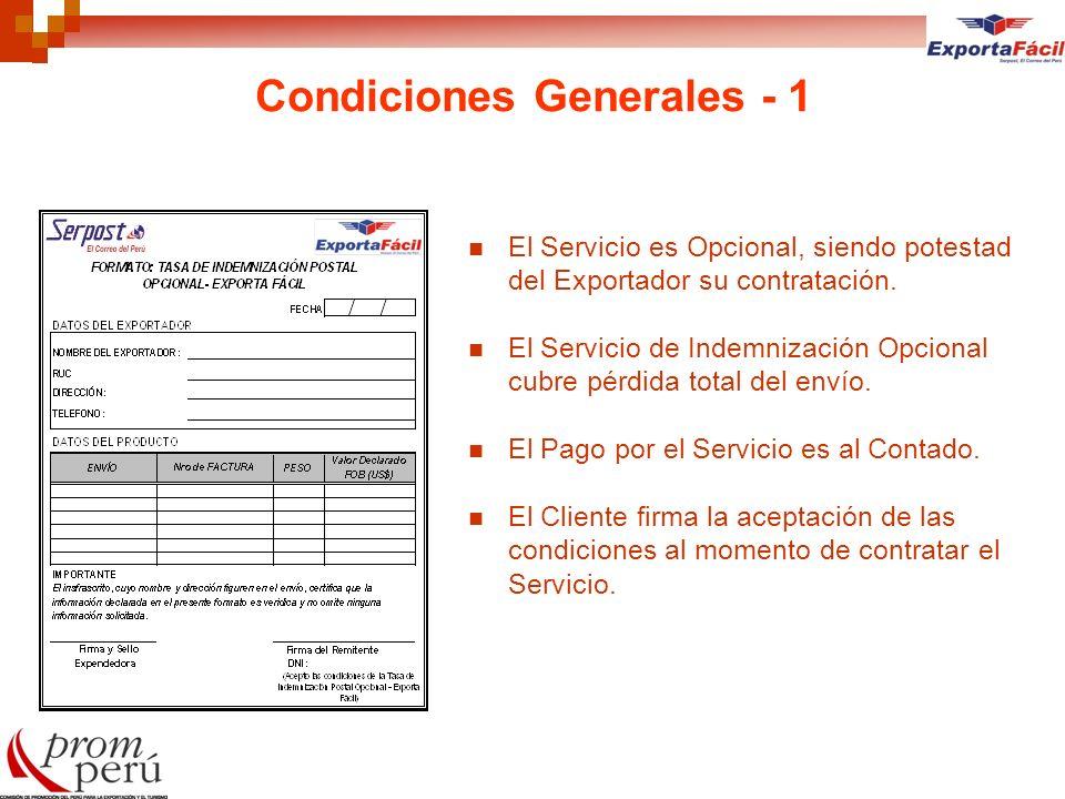 Condiciones Generales - 1