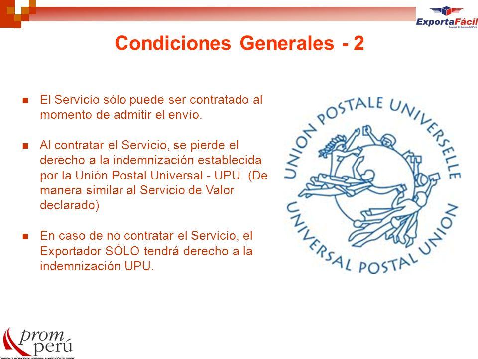 Condiciones Generales - 2