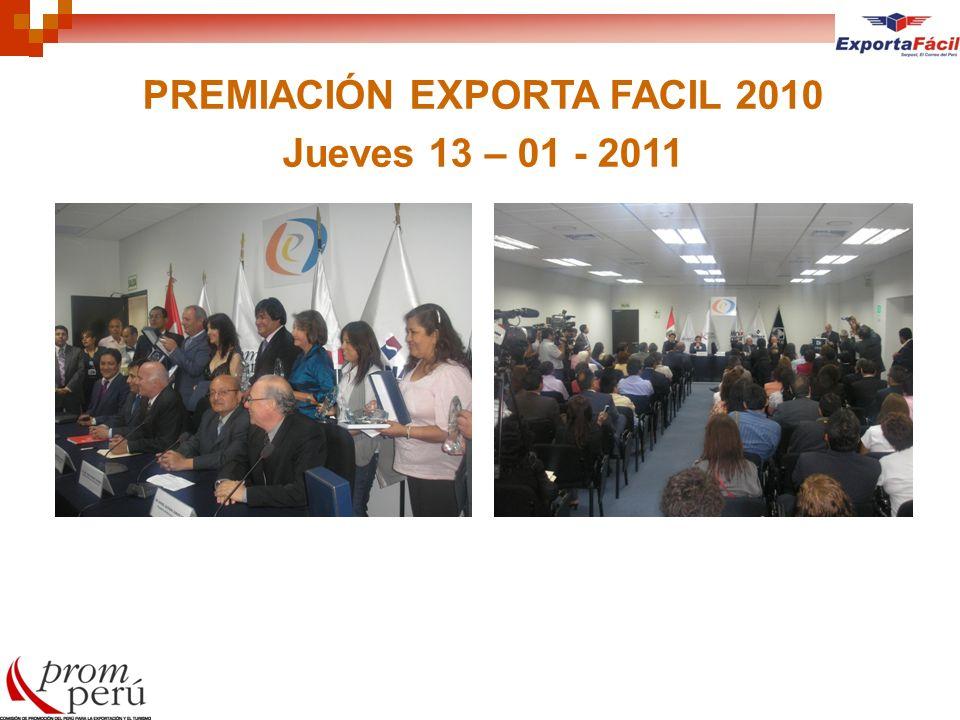 PREMIACIÓN EXPORTA FACIL 2010