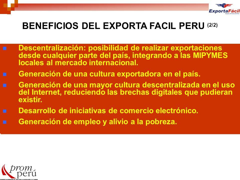 BENEFICIOS DEL EXPORTA FACIL PERU (2/2)