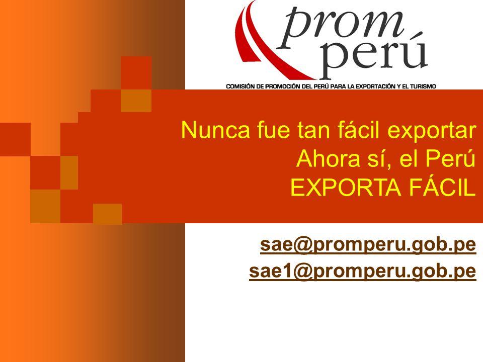 Nunca fue tan fácil exportar Ahora sí, el Perú EXPORTA FÁCIL