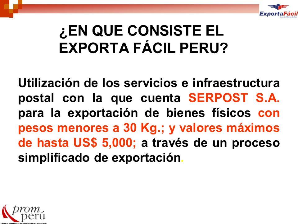 ¿EN QUE CONSISTE EL EXPORTA FÁCIL PERU