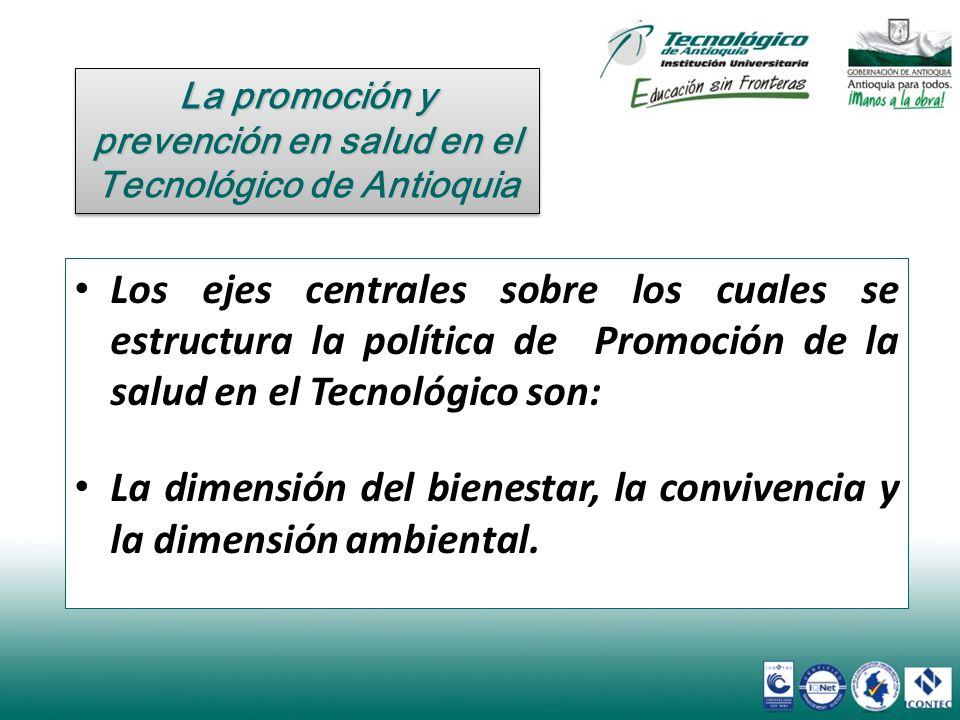 La promoción y prevención en salud en el Tecnológico de Antioquia