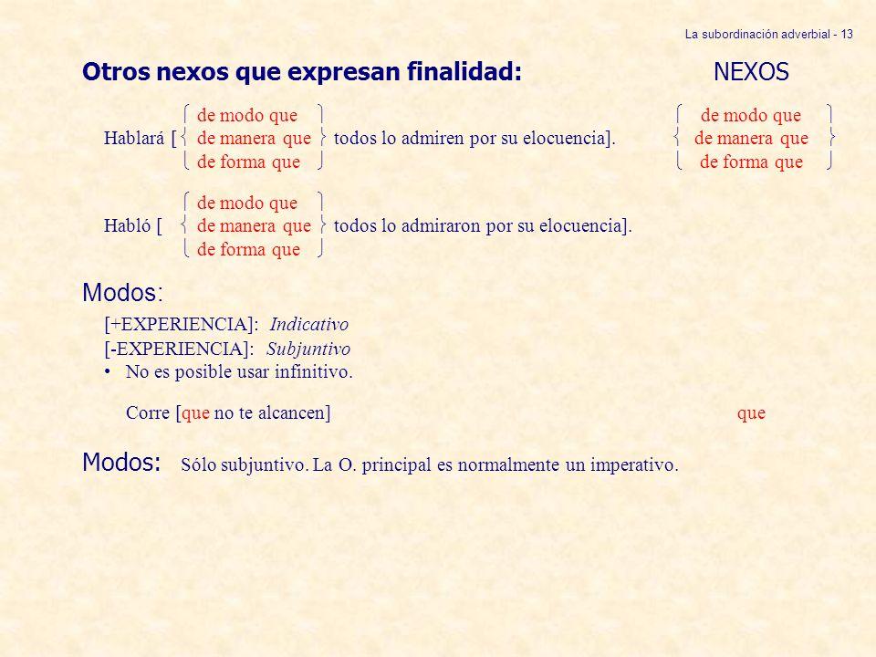La subordinación adverbial - 13