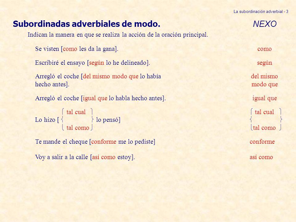 La subordinación adverbial - 3