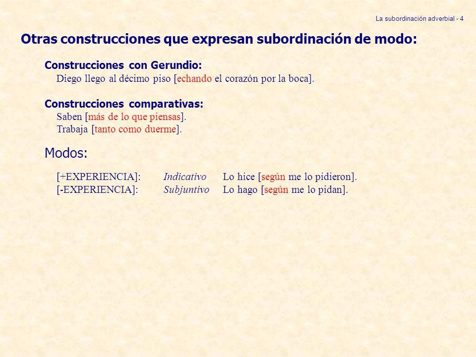 La subordinación adverbial - 4