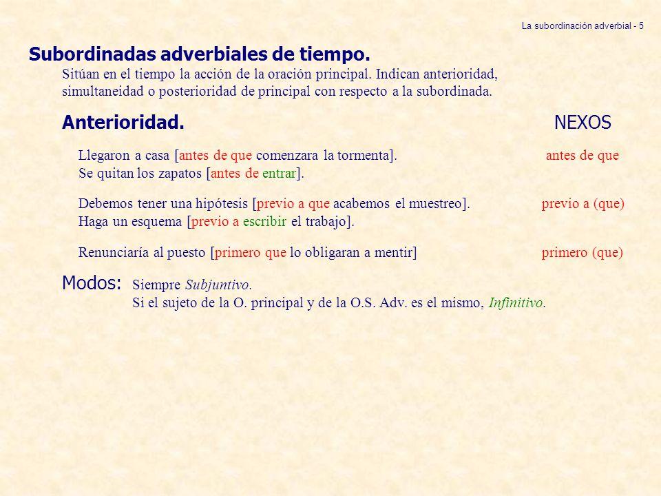 La subordinación adverbial - 5