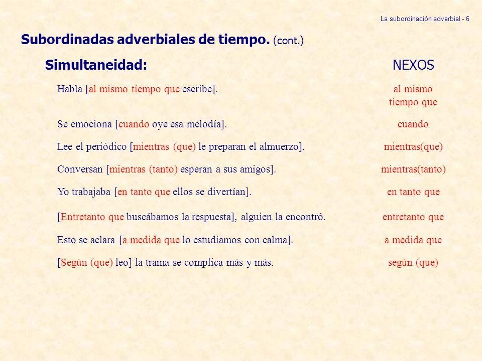 La subordinación adverbial - 6