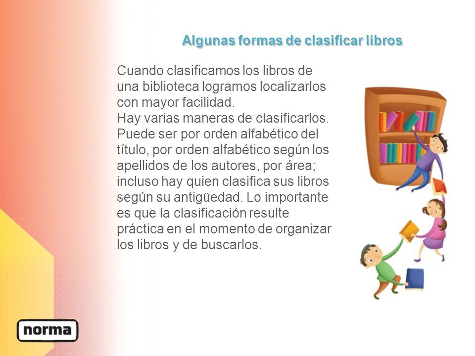 Algunas formas de clasificar libros