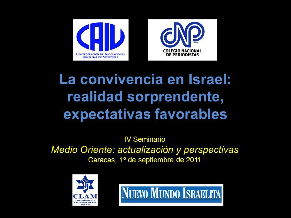 La convivencia en Israel: realidad sorprendente, expectativas favorables