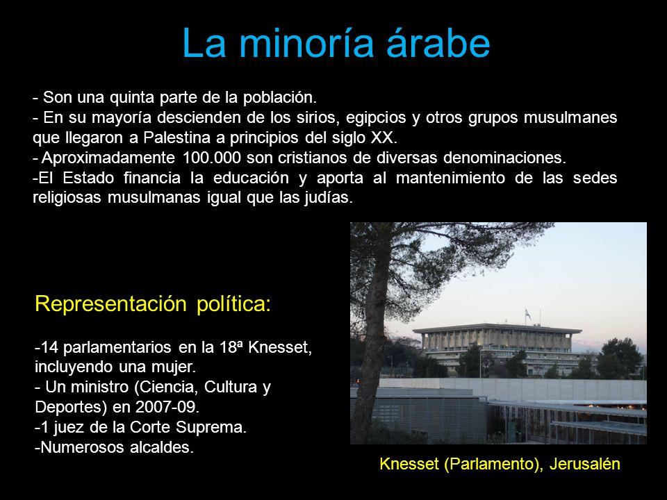 La minoría árabe Representación política: