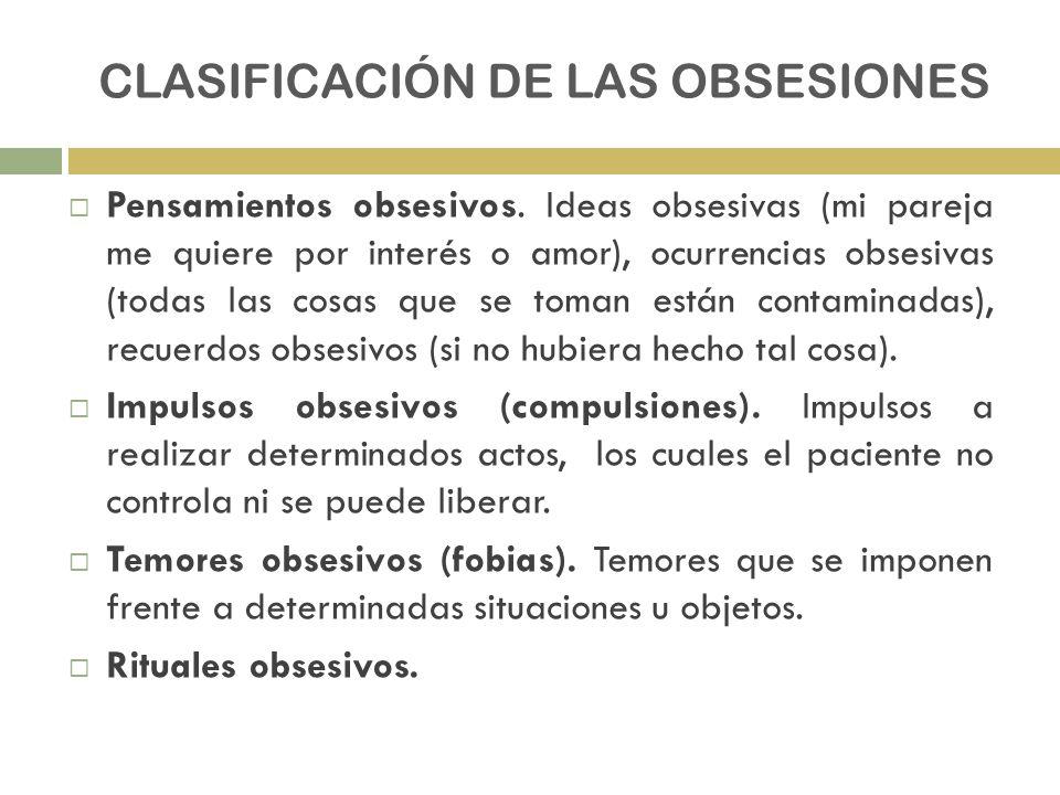 CLASIFICACIÓN DE LAS OBSESIONES