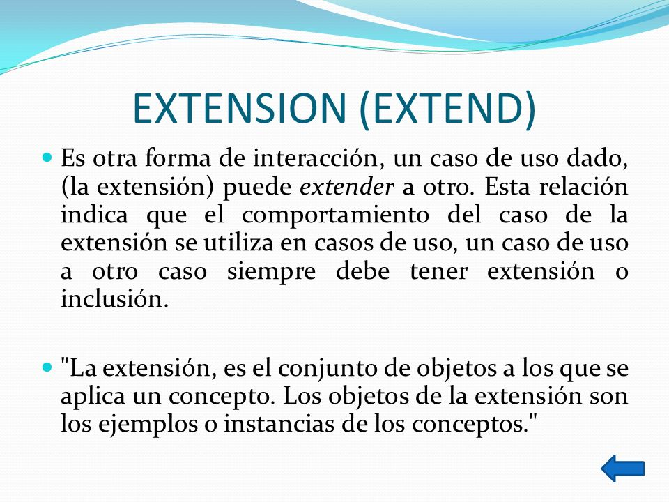 EXTENSION (EXTEND)