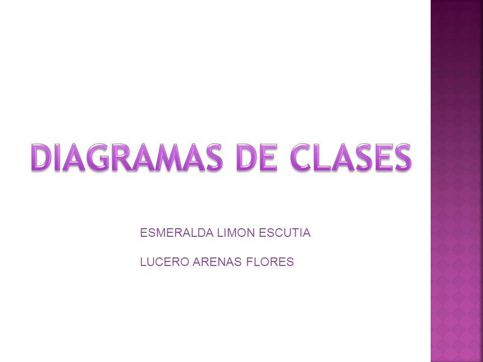 DIAGRAMAS DE CLASES ESMERALDA LIMON ESCUTIA LUCERO ARENAS FLORES
