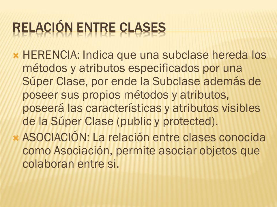 RELACIÓN ENTRE CLASES