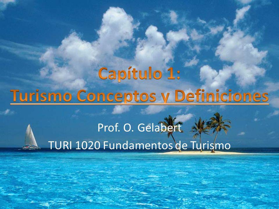 Prof. O. Gelabert TURI 1020 Fundamentos de Turismo