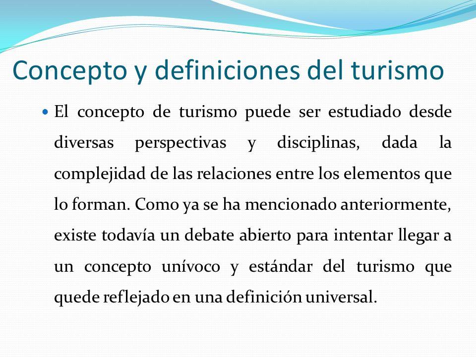 Concepto y definiciones del turismo