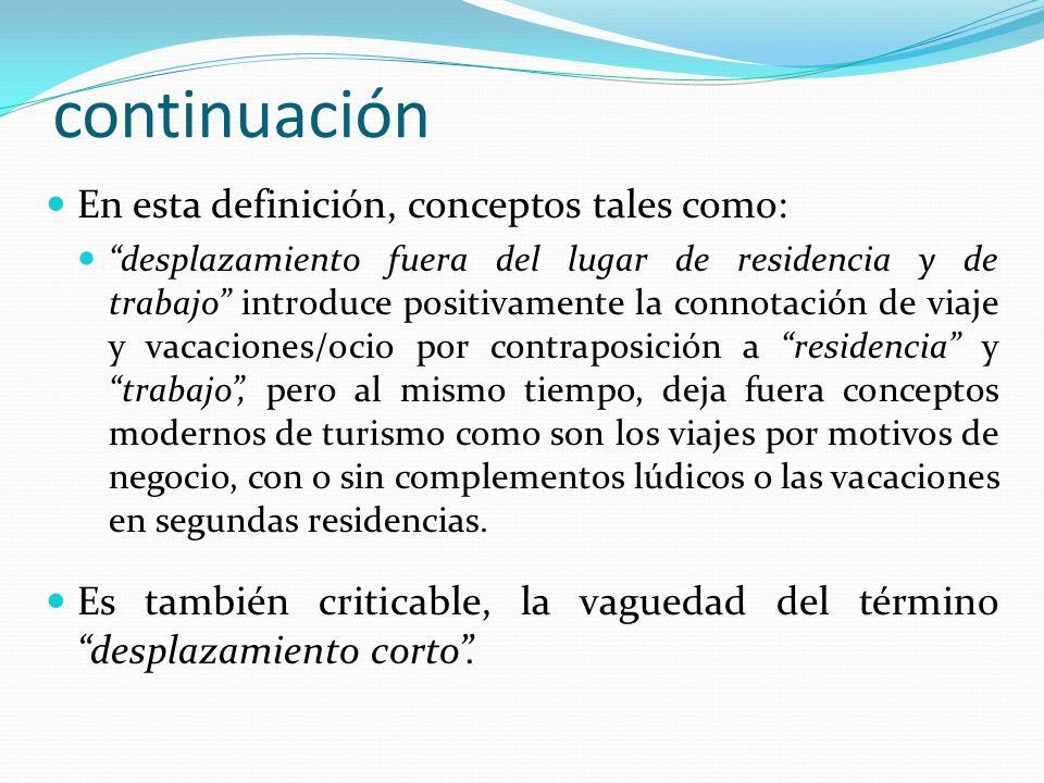 continuación En esta definición, conceptos tales como: