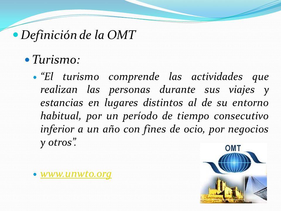 Definición de la OMT Turismo: