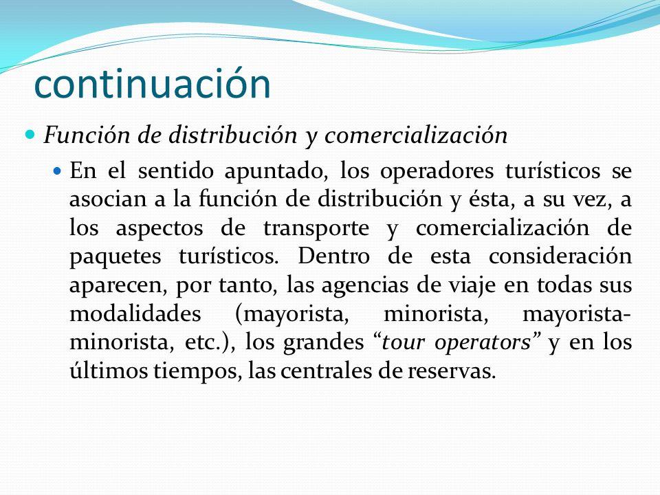 continuación Función de distribución y comercialización