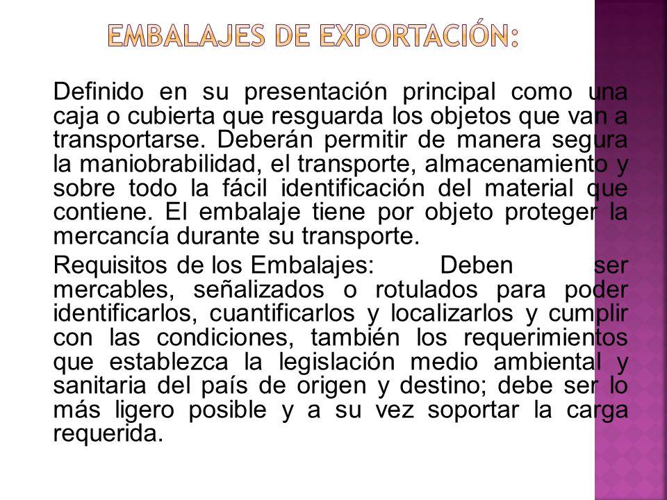 Embalajes de exportación: