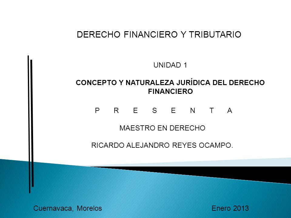 CONCEPTO Y NATURALEZA JURÍDICA DEL DERECHO FINANCIERO