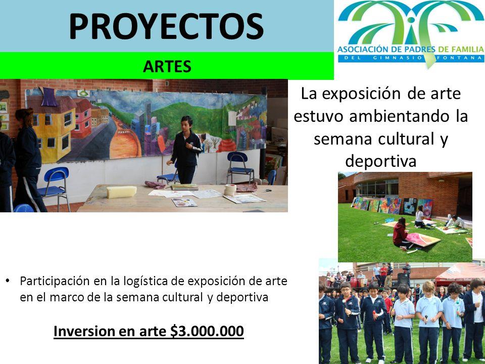 PROYECTOS ARTES. La exposición de arte estuvo ambientando la semana cultural y deportiva.