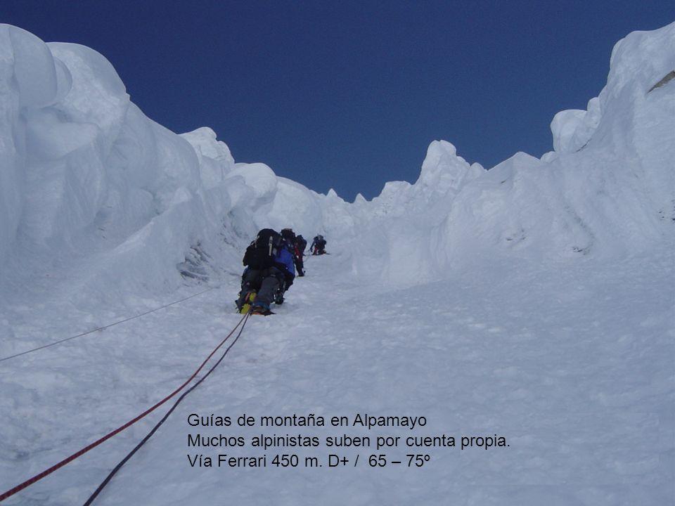 Guías de montaña en Alpamayo