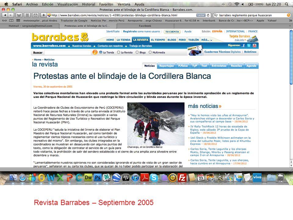 Revista Barrabes – Septiembre 2005