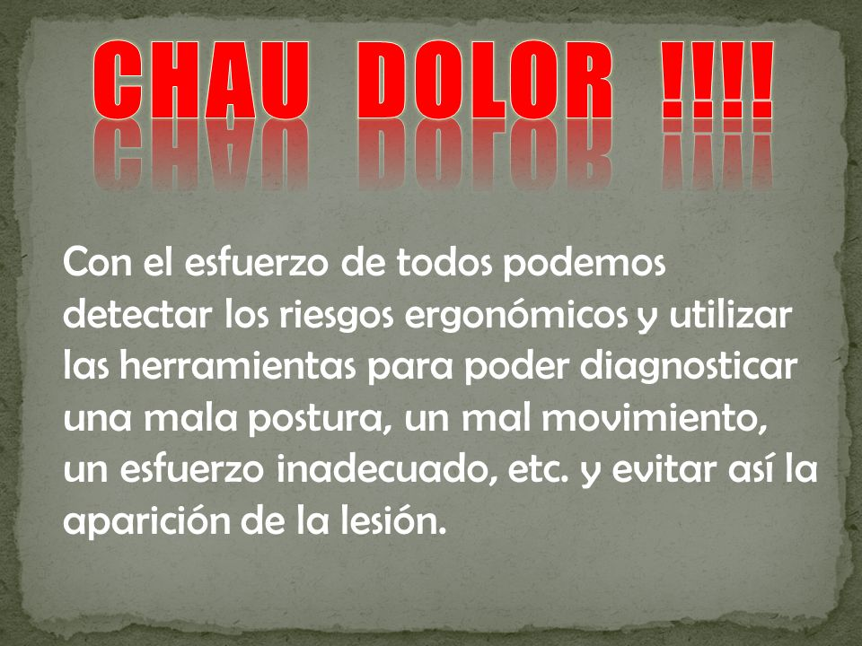 CHAU DOLOR !!!!