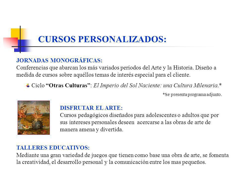 CURSOS PERSONALIZADOS: