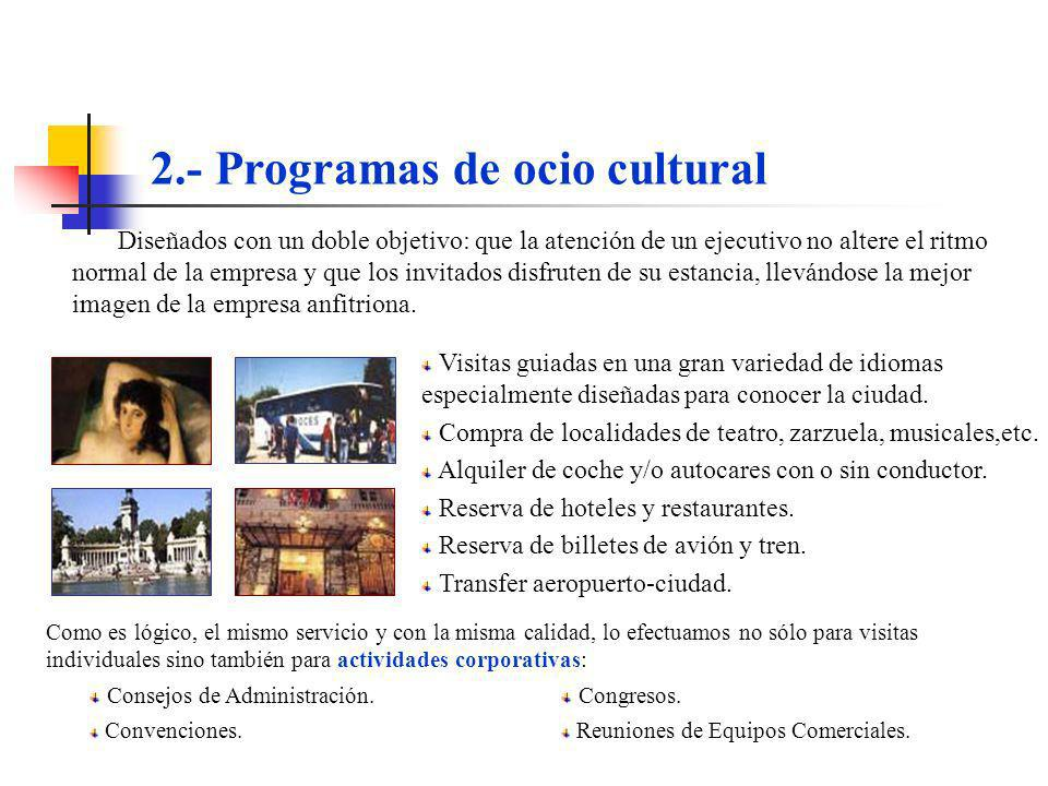 2.- Programas de ocio cultural