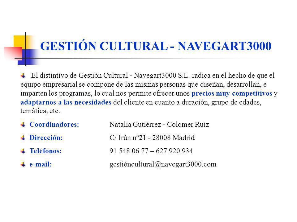 GESTIÓN CULTURAL - NAVEGART3000